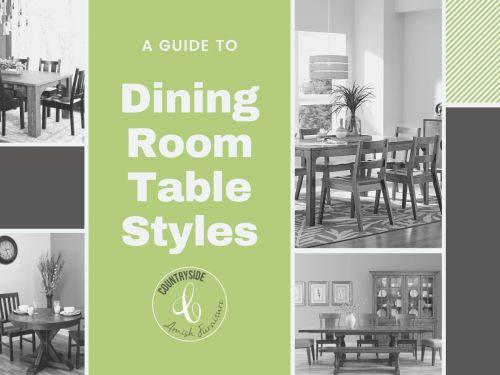 Un guide des styles de table de salle à mangerStyles